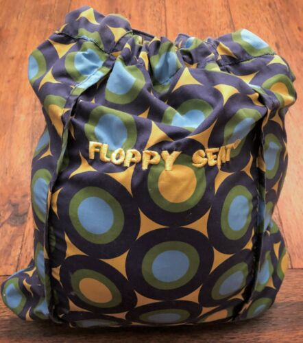 Floppy Seat Cart & High Chair Cover Blue Green Yellow Dots Stripes Buckle