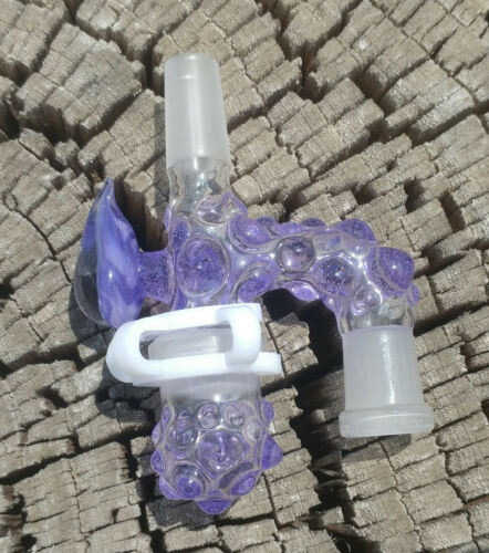 Purple Cat Silhouette 14mm Male - 14 Female Glass Reclaim Removable Jar USA