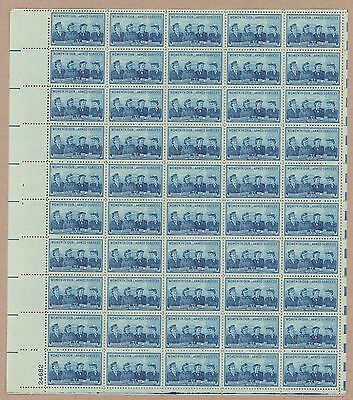 Bj Stamps    1013   Service Woman   Mnh Sheet Of 50 3    Issued In 1952