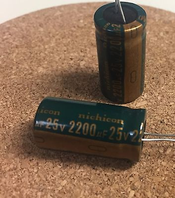 2pcs Aluminum Capacitors 2200uf 25v 10x25mm