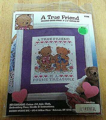 "Complete Brand New Cross Stitch Kit ""A True Friend is a Found Treasure"""