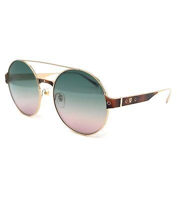 MCM Sunglasses MCM124S 727 Gold Round Unisex 58x19x140