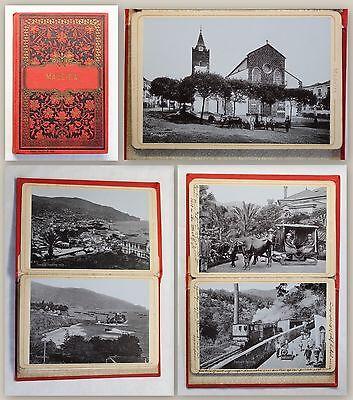 Payne Madeira Leporello 12 Ansichten in Lichtdruck um 1900 Portugal Insel xz