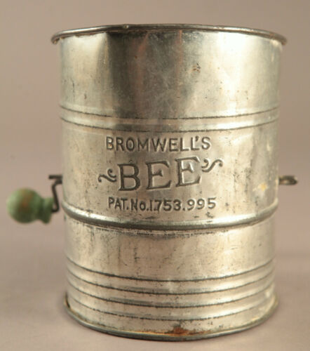 Vintage Bromwell's Bee Flour Sifter  NICE