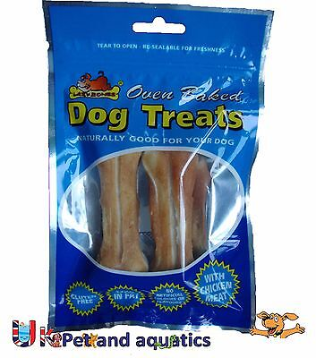 Lazy Bones Rawhide Knuckles With Chicken Meat, Dog Treats, Gluten Free, Low (Dog Low Fat Rawhide)