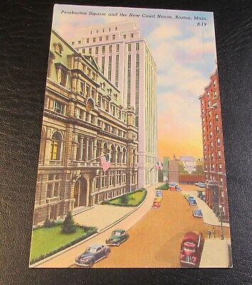 Old Postcard<BOSTON, MASSACHUSETTS>{ PEMBERTON SQUARE}