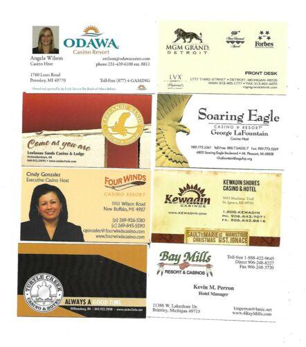 8 Michigan Casino Business Cards
