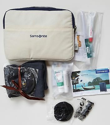 New Lufthansa business class travel amenity kit - off white