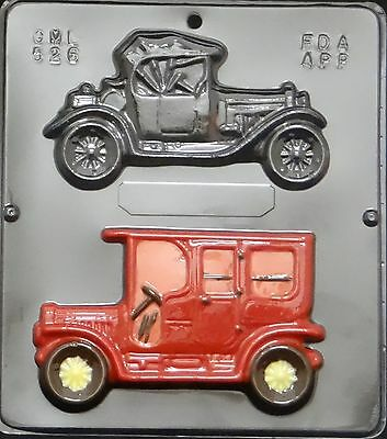Antique Cars Chocolate Candy Mold  526 - Chocolate Cars