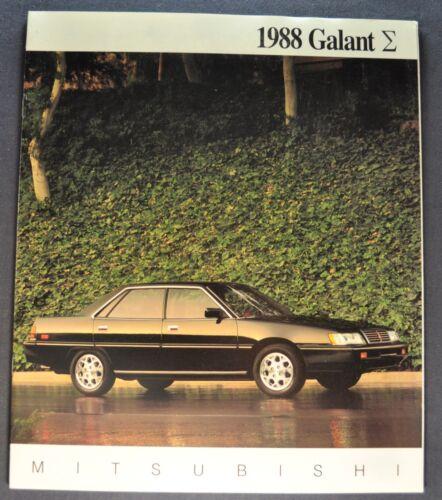1988 Mitsubishi Galant Catalog Sales Brochure Excellent Original 88