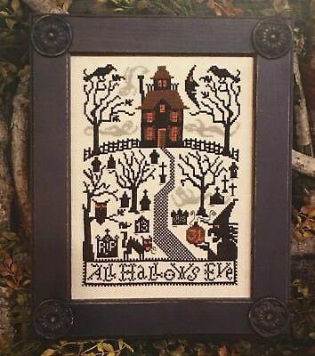 oween Prairie Schooler Cross Stitch Pattern 180 Original (All Hallows Eve-halloween)