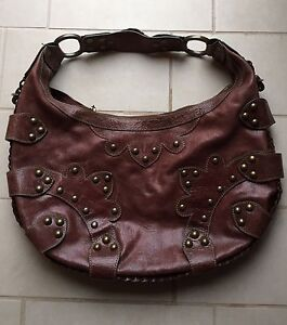 Isabelle Fiore brown Italian leather purse