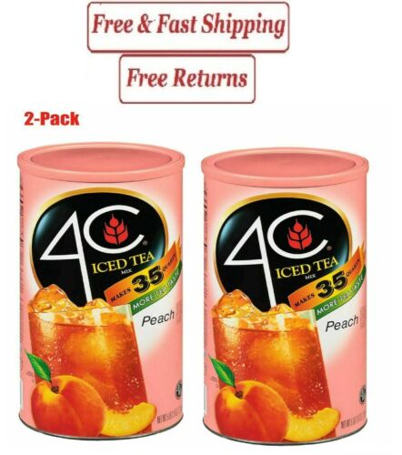 4C 35 QT Peach Iced Tea Mix (82.6 oz.2.Pack)