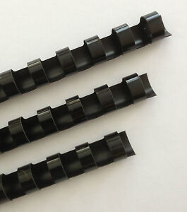 5-8-Plastic-Binding-Combs-BLACK-Set-of-25