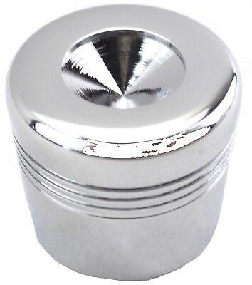 glove box knob cover indented top chrome aluminum for Peterbilt (Aluminum Glove Box Cover)