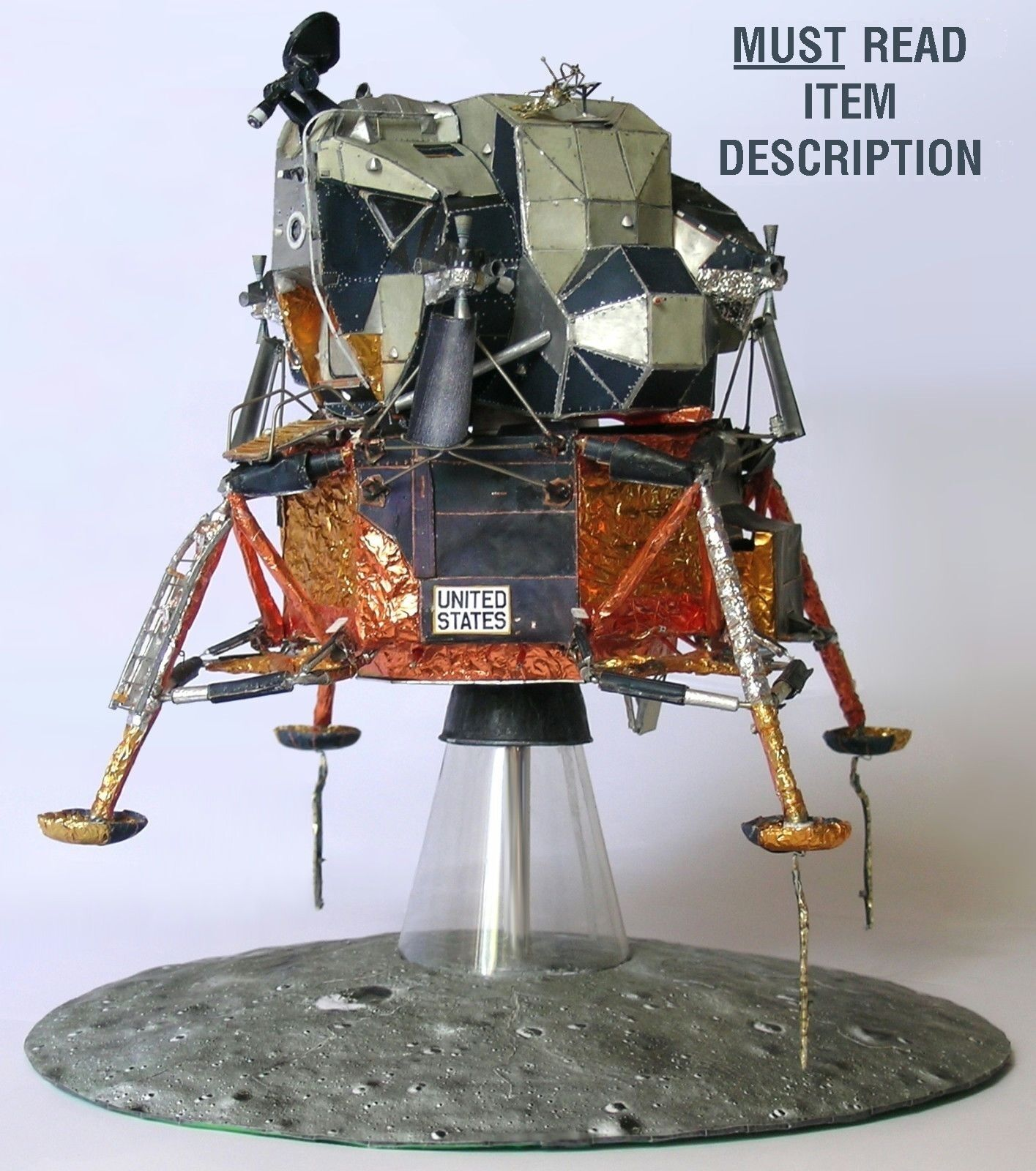 Apollo 11 Lunar Module Lm 5 1 32 Model Craft Kit For