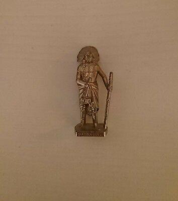 Ü-Ei - SITTING BULL -- Metallfiguren Berühmte Indianer -- ca.4cm hoch, Neuwertig