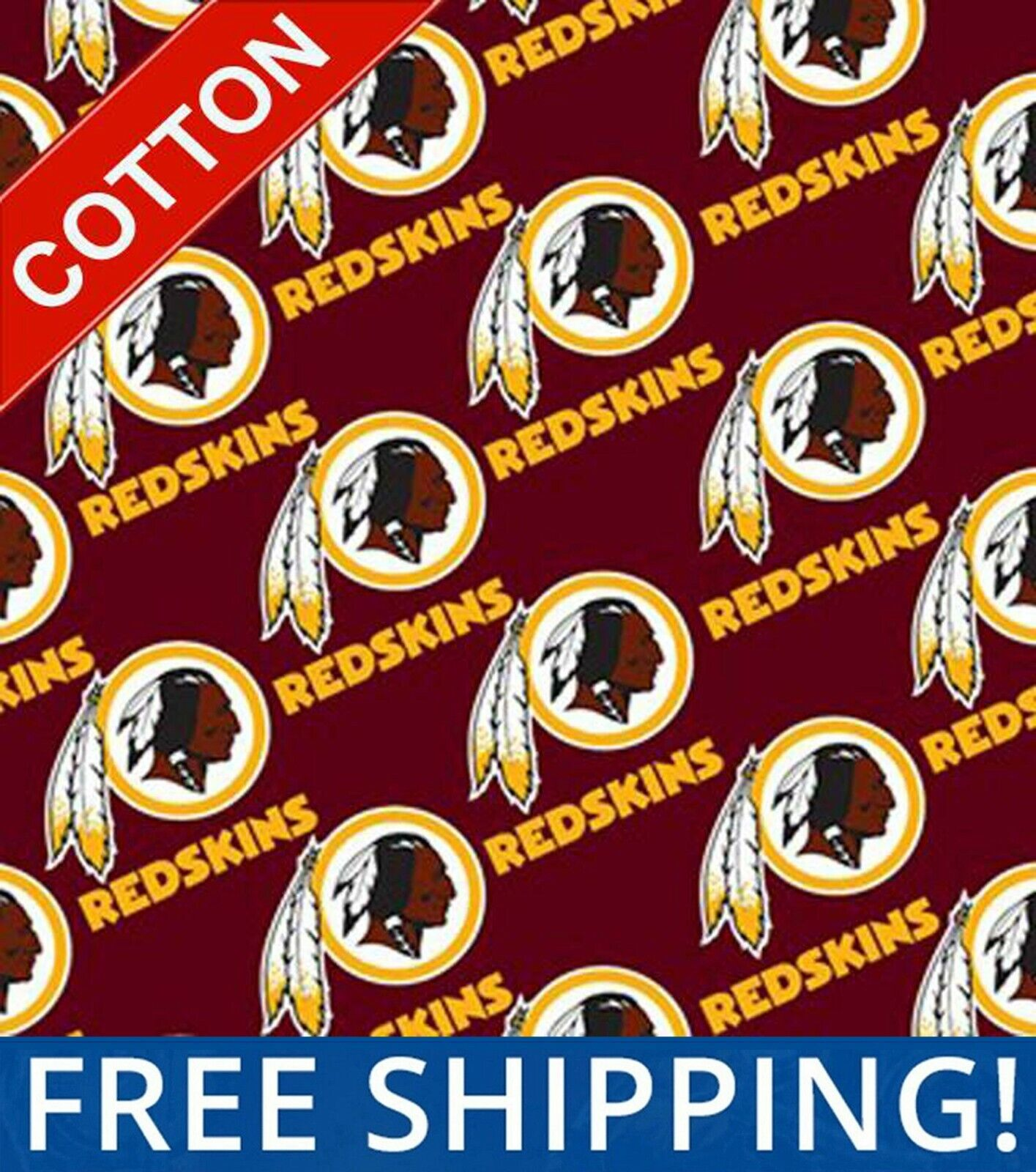 NFL Cotton Washington Redskins Fabric - By The Yard - #3528