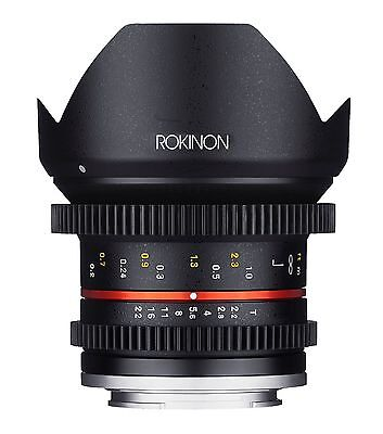 New Rokinon 12mm T2.2 Cine Ultra Wide Angle Video Lens for Micro Four Thirds MFT, used for sale  Shipping to India