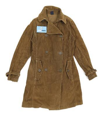 Gap Womens Size XS Corduroy Textured Brown Trench Coat