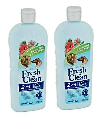 PetAg Fresh'n Clean 2-in-1 Shampoo and Conditioner for Dogs Short Coat 18 oz NEW Fresh N Clean Dog Shampoo