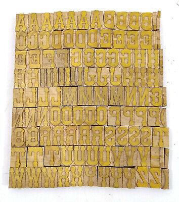 Vintage Letterpress Woodwooden Printing Type Block Typography 116 Pc 33mmlb142