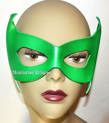 GREEN Robin Leather Mask Damian Wayne Superhero Batman Halloween Costume UNISEX - Robin Costume Mask