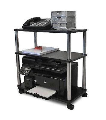Convenience Concepts Mobile Laptop Printer Cart Rolling C...