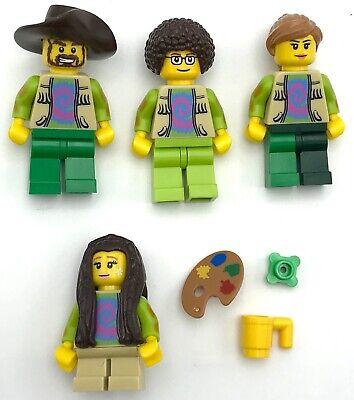 LEGO 4 NEW HIPPIES 70's MUSIC FESTIVAL MINIFIGURES MEN PEOPLE GIRL BOY](Music Festival Toys)