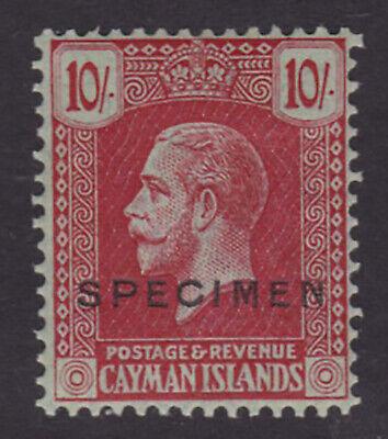 Cayman Islands. SG 83s, 10/- carmine/green, specimen. Fine mounted mint.