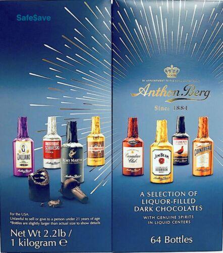 NEW Anthon Berg Chocolate Liqueurs Liquor Filled  Original Spirits in 64 Pcs