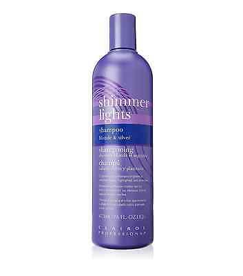 Clairol Professional Shimmer Lights Shampoo Blonde - Silver 16 oz (Pack of 2) Clairol Professional Shimmer Lights Shampoo
