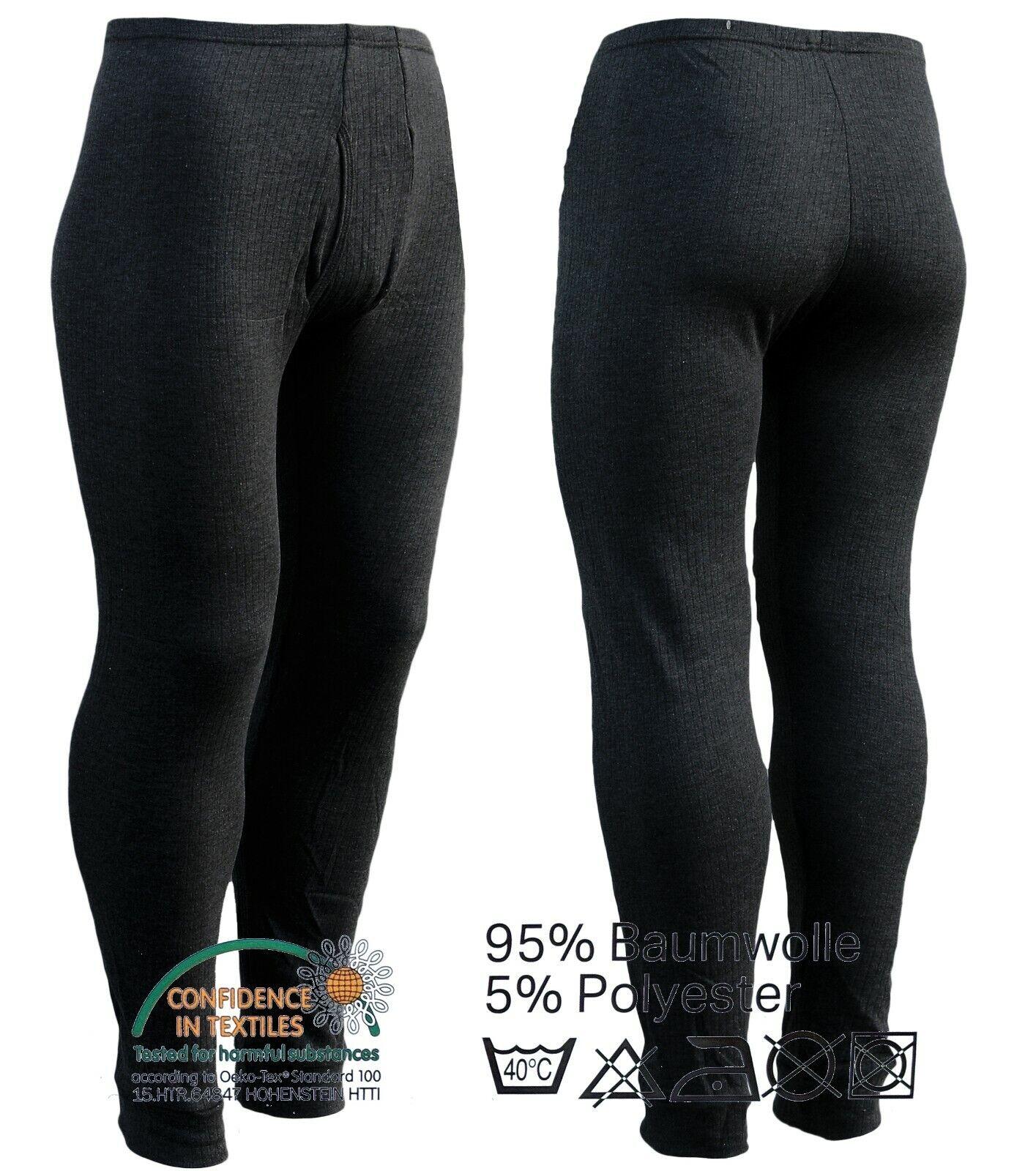 3 x Herren Thermo Unterhose schwarz Farbauswahl Winter Ski Leggings Unterwäsche