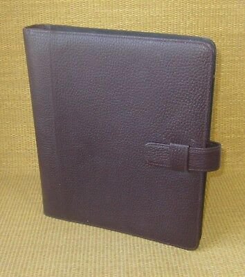 Monarchfolio 1 Rings Burgundy Pebbled Leather Day-timer Open Plannerbinder