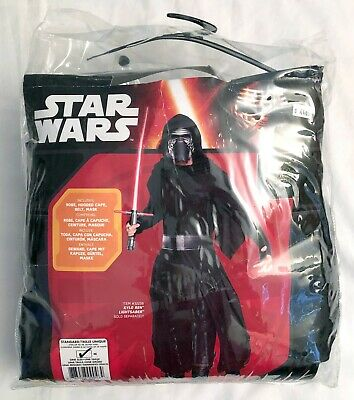 Kylo Ren Adult Black Costume One Size Ben Solo Star Wars The Force Awakens 2017