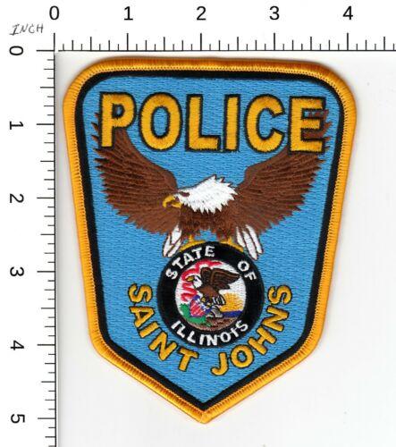 SAINT JOHNS ILLINOIS IL POLICE (DISBANDED DEPARTMENT) SHOULDER PATCH