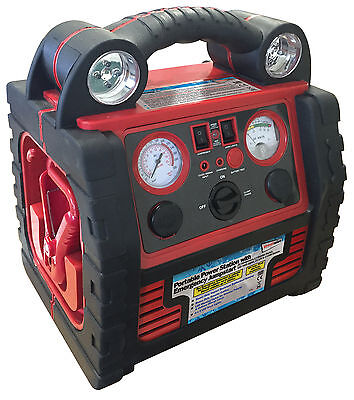 12v 900A Portable Power Pack with Emergency Jumpstart, Inverter & Air Compressor