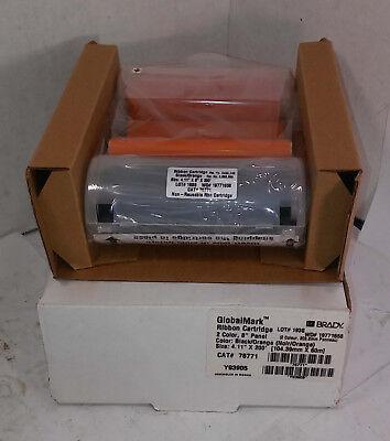 1 New Brady Ribbon 76771 Cartridge Blackorange Nib Free Cd Make Offer