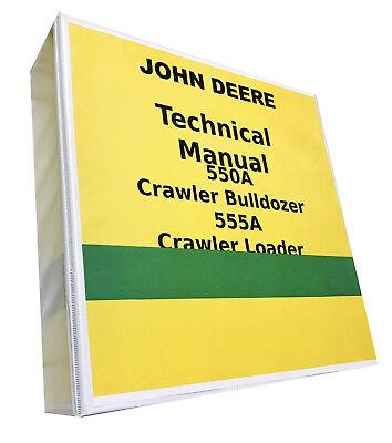 John Deere 555a Crawler Loader Technical Service Repair Shop Manual 896 Pages