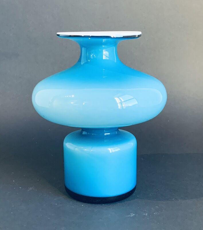 HOLMEGAARD Carnaby Cased Glass Vase Blue