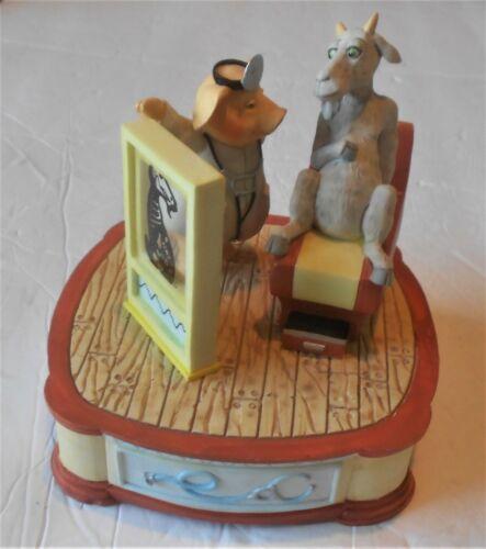 "Rare Vtg San Francisco Music Box Co Pig Doctor Goat & Xray ""Spoonful of Sugar"""