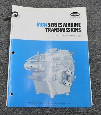 Twin Disc Mgn-3724h Transmission Assembly Dimensional Specifications Manual