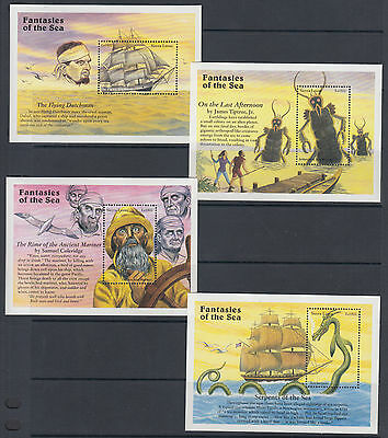 Sierra Leone Sc 1934-1973 MNH. 1996 Fantasies of the Sea, 40 Souvenir Sheet set