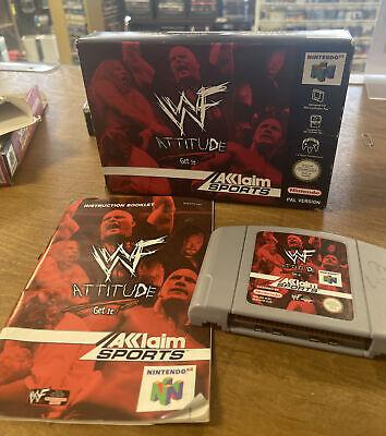 WWF ATTITUDE ~ Nintendo 64 N64 PAL Boxed & Complete Collectors