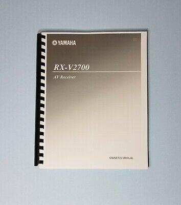 Yamaha RX-V2700 AV Receiver Owner's Manual - Operating Instructions comprar usado  Enviando para Brazil