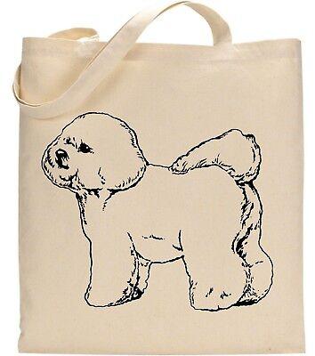 Bichon Frise Loyal Friend Pet Dog Animal Graphic Birthday Christmas Tote Bag (Friend Pets Tote Bag)