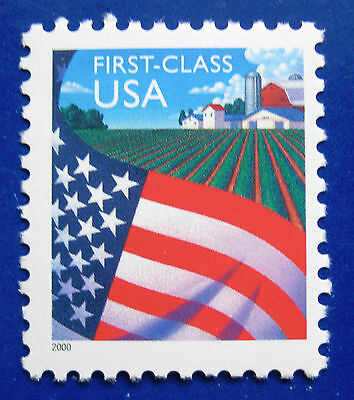 Sc # 3448 ~ ND (34 cent) Flag Over Farm Issue