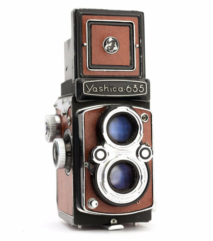 Yashica 635 Replacement Cover - Laser Cut Recycled Leather - Grainy