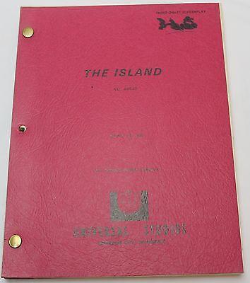 The Island * 1979 Movie Script *  Michael Caine, Bermuda Triangle Adventure Film