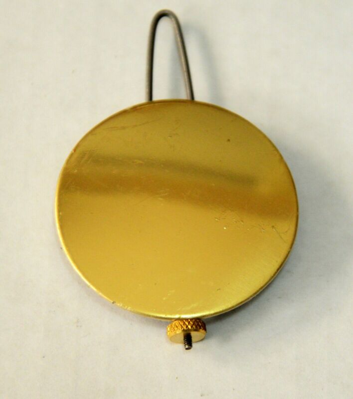 "Adjustable Brass Clock Pendulum Bob 1 3/4"", Shelf, O.G."